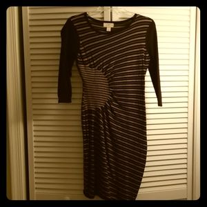 LOFT fitted 3/4 sleeve sweater dress
